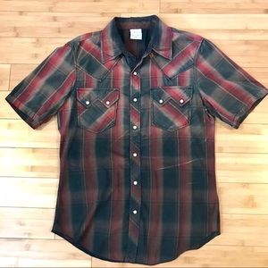 True Religion Men's Western Short Sleeve